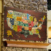 License Plate Art - Large USA Map