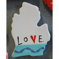 Love Michigan Magnets