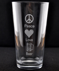 Laser Engraved Beer Glass