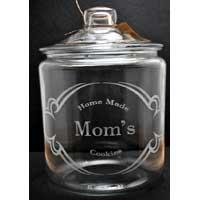 Mom Engraved Cookie Jar