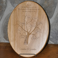 Laser Engraved Family Tree Plaque