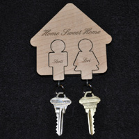 Laser Engraved Key Chain Holder