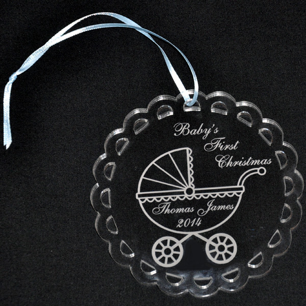 Personalized Acrylic Ornament for Baby's First Christmas with ...