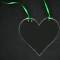 Acrylic Ornament - Heart Shape