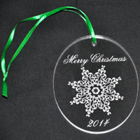 Laser Engraved Christmas Ornament