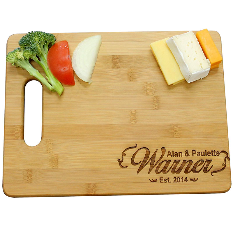 laser engraved personalized cutting board  mccoy creek laser designs,