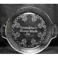 Engraved Personalized Pie Plate