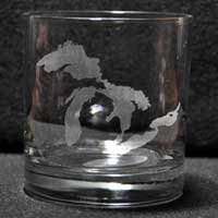 Laser engraved Rocks Glass