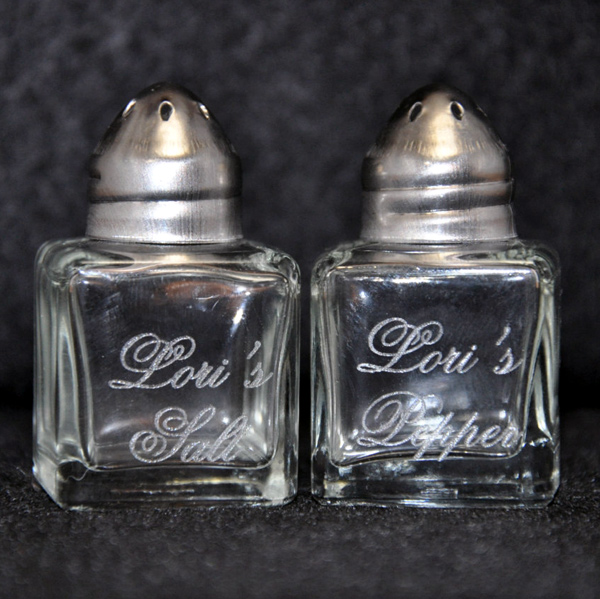 Miniature Personalized Salt And Pepper Shakers Mccoy