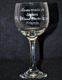 Laser Engraved Stemless Glass Michigan