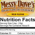 Mild Messy Dave's Nutrition Facts