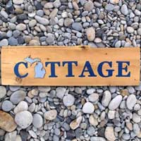 Michigan Barnwood COTTAGE Sign