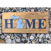 Michigan Barnwood Home Sign