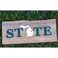 Michigan Barnwood STATE Sign