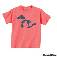Kids Great Lakes Waves Tshirt
