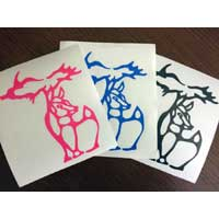 Small Michigan Deer Decals