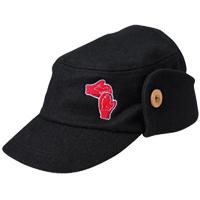 Michigan Mittens Wool Flap Cap