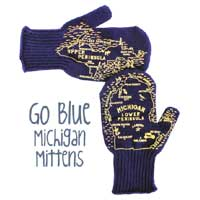 Go Blue Michigan Mittens