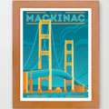 The Mighty Mac Giclee Art Print Sample Framed
