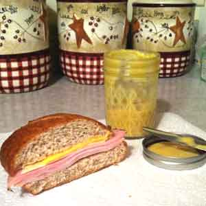 Sweet & Spicy Mustard on a Ham Sandwich