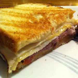 Sweet & Spicy Mustard on a Monte Cristo Sandwich