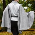 Brown & Bone Draped Cape-Sleeve Coat