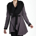 Sparkle Black & Pink Reversible Coat