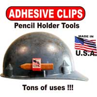Adhesive Clip Hard Hat Pencil Holder – 10 Pack