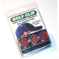 Hat Clip with Golf Ball Marker and Pencil Holder – 3 Pack