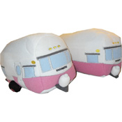 Canned Ham Vintage Trailer Slippers