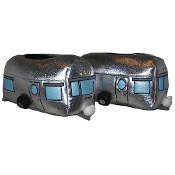 Silver Vintage Travel Trailer Slippers