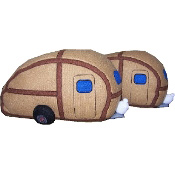 Woody Teardrop Trailer Slippers