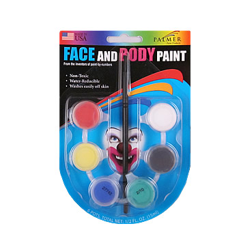 Face and Body Paint 6 Pot Paint Set by Palmer Paint