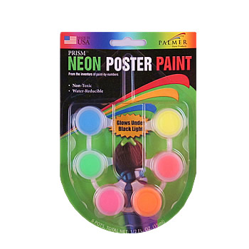 Neon Poster Paint 6 Pot Set by Palmer Paint