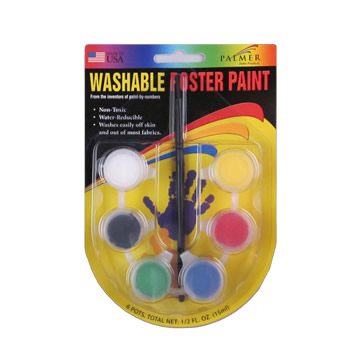 Washable Poster Paint 6 Pot Set by Palmer Paint