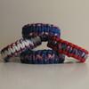 Patriotic Colors Parachute Cord Bracelets