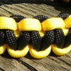 Army Paracord Bracelet shown in yellow and black