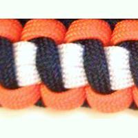 Coast Guard Paracord Bracelet shown in orange, black, white