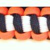 Coast Guard Paracord Bracelet shown in orange, black, white