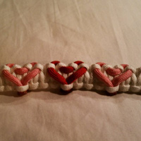 Multiple Heart Paracord Bracelet
