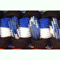 Navy Paracord Bracelet shown in black, electric blue, white, blue camo