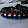 Operation Iraq Freedom Paracord Bracelet shown in black, DCU, green, red