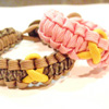 Awareness Ribbon Paracord Bracelet Shown with Yellow Ribbon