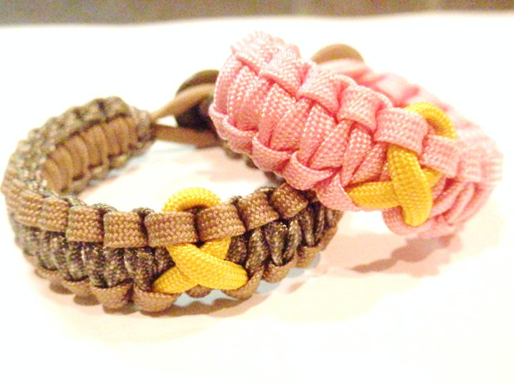 PARACHUTE CORD BRACELET WITH AWARENESS RIBBON - $9.95 | PARACORD