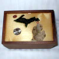 Michigan Petoskey Stone Memorabilia/Keepsake Box