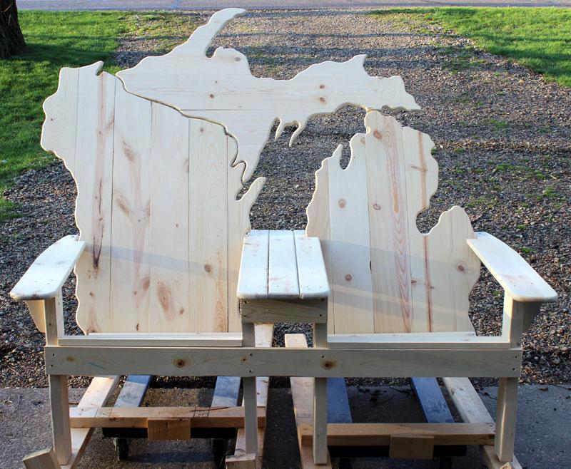 Lake Michigan Adirondack Bench Picwood Usa