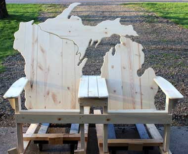 Lake Michigan Adirondack Bench