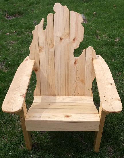 Cedar Ottoman Plans ~ Wooden michigan adirondack chair picwood usa