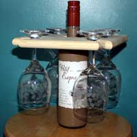 Wine Glass and Wine Bottle Holder