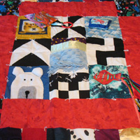 Activity Patchwork Baby Quilt